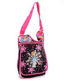 Power Puff Sling Bag - Black And Pink