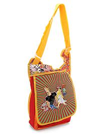 Johnny Bravo Messenger Sling Bag Red - 12 Inches