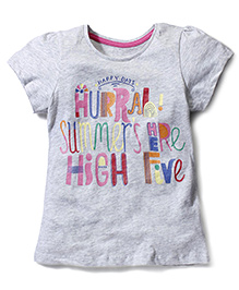 Mothercare Short Sleeves Top Happy Days Print - Grey