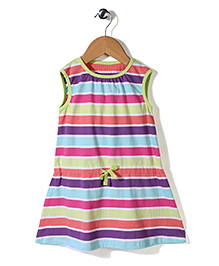Mothercare Sleeveless Striped Dress - Multicolor