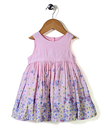 Mothercare Sleeveless Floral Frock With Bloomer - Pink