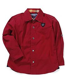 Gini & Jony Full Sleeves Shirt - Maroon