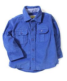 Gini & Jony Full Sleeves Plain Shirt - Blue