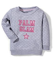 Gini & Jony Full Sleeves Printed Sweatshirt - Grey