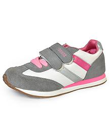 Beanz Sports Shoes - Grey Pink