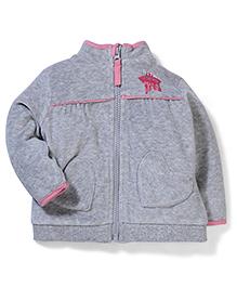 Mothercare Full Sleeves Sweatshirt Star Print - Grey