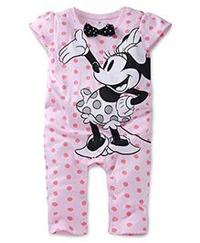 Disney by Babyhug Minnie On Polka Dots Print - Pink