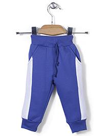 Babyhug Full Length Plain Track Pant - Blue