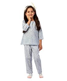 De-nap Little Daisies Pyjama Set - Blue