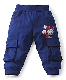 Disney by Babyhug Track Pants Mickey Print - Blue