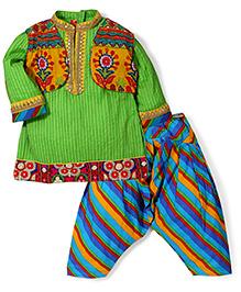 Exclusive From Jaipur Full Sleeves Kurta Jacket And Patiala - Green