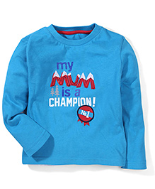 Mothercare Full Sleeves T-Shirt - Turquoise Blue