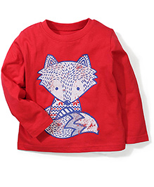 Mothercare Long Sleeves Graphic Print T-Shirt - Red