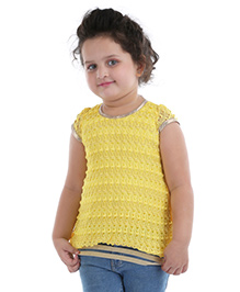 Party WearBabyhug Sleeveless Party Wear Top - Yellow