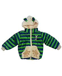 Kuddle Kids 3D Bear Motif Jacket - Green & Navy Blue