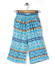 Pinehill Loose Fit Pant Flower Print - Blue