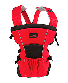 Luv Lap Blossom 2 Way Baby Carrier - Red Grey Black