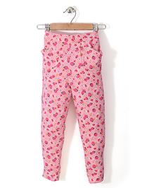 Chic Girls Strawberry Printed Pant - Pink