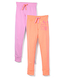 Mothercare Joggers Pack Of 2 - Pink And Orange