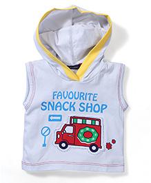 Great Babies Sleeveless Hooded T-Shirt - Light Blue