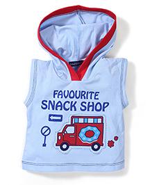 Great Babies Sleeveless Hooded T-Shirt - Blue