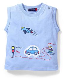 Great Babies Sleeveless T Shirt City Print - BlueBlue