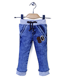 Babyhug Jeans with 80 Patch - Blue