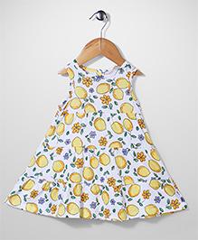 Mothercare Sleeveless Frock Lemon Tree - White Yellow