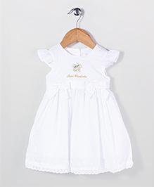 Bebe Wardrobe Cap Sleeves Party Frock - White