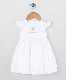 Bebe Wardrobe Cap Sleeves Party Frock - White