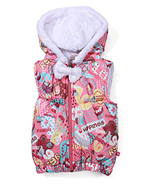 Little Kangaroos Sleeveless Quilted Hooded Jacket - Pink