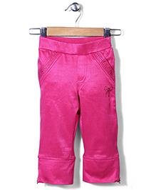 Lei Chie Capri With Diamond Sticker - Pink