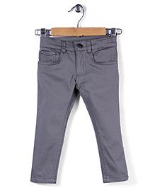 Timeless Fashion Full Length Pant - Light Grey