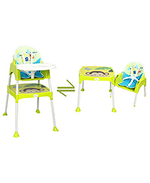 R for Rabbit Cherry Berry The Convertible High Chair With Cushion Green - HCCBBG1