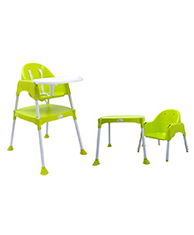 R for Rabbit Cherry Berry The Convertible High Chair Without Cushion Green - HCCBBG2