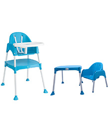 R for Rabbit Cherry Berry The Convertible High Chair Without Cushion Blue - HCCBSB2