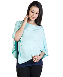 Blush 9 Maternity Poncho Style Top - Mint Green
