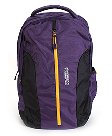 American Tourister Backpack Purple Black - 18 Inches