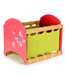 Flyfrog Fabric Storage Box Butterfly Theme - Peach And Green