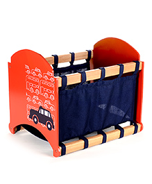 Flyfrog Fabric Storage Box Cars Theme - Blue And Orange