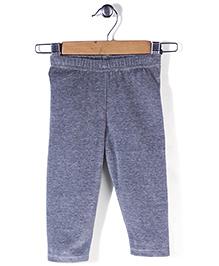 Babyhug Full Length Plain Leggings - Grey