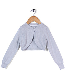 Mothercare Full Sleeves Knitted Bolero Jacket - Silver