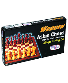 Asian Wooden Chess - Brown And White