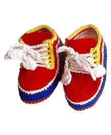 My World of Crochet by Neelam Sports Shoes - Red
