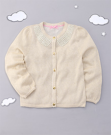 Mothercare Full Sleeves Embellished Cardigan - Cream