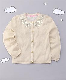 Mothercare Full Sleeves Embellished Cardigan - Cream