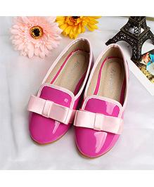Zebeggi Shiny Bow Ballerinas  - Pink
