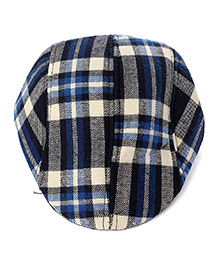 Little Hip Boutique Plaid Beret Cap - Blue