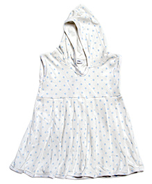Tiny Toddler Hoodie Dress With Star Print - White