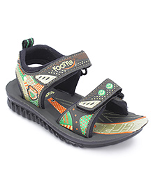 Footfun Floater Sandals With Velcro Closure - Green